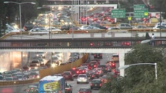 Traffic time lapse in a Mexico city street. Stock Footage
