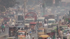 Busy road in Lahore, Pakistan - stock footage