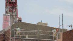 Construction workers 1920x1080p Stock Footage