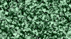 Green square block mosaics wall,computer chip board,game brick background,abstr Stock Footage