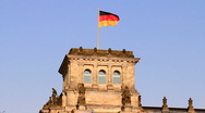 Stock Video Footage of National flag of Germany Bundestag (Reichstag)