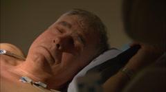 Echocardiography procedure - stock footage