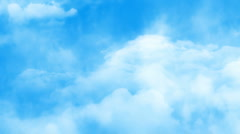 Flight through sky Stock Footage