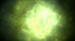 Stock Video Footage of dazzling galaxy explosion launch circle rays light and rotation energy communic