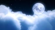 Night moon flight Stock Footage