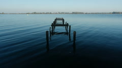 Jetty Remains at Lough Neagh Stock Footage