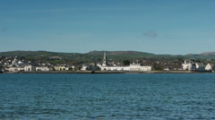 Warrenpoint NI, from Omeath, Eire. Stock Footage