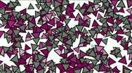 Triangles block mosaics wall,game brick background,abstract math geometry.abstr Stock Footage