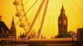 London. Big Ben and London Eye. Footage