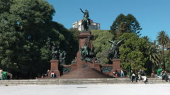 San Martin Monument Stock Footage