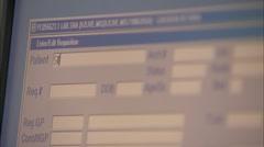Medical information system Stock Footage