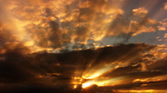 Timelapse Heavenly Sunset 09 Loop HD1080 - stock footage
