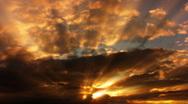 Timelapse Heavenly Sunset 09 Loop HD1080 Stock Footage