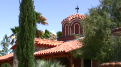 Greek Orthodox Monastery Stock Footage