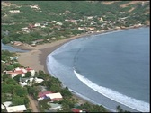 San Juan del Sur from hill Stock Footage
