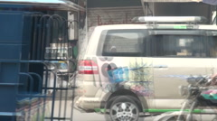 Rush of traffic in Lahore Stock Footage
