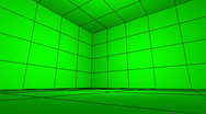 Stock Video Footage of Green Screen FX room hi-tech projection commerce displays rotate lcd