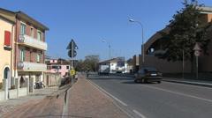 Italy Po delta Comacchio street Stock Footage