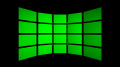 Green Screen FX room hi-tech projection commerce displays rotate lcd Stock Footage