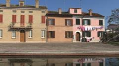 Italy Po delta Comacchio pans Stock Footage