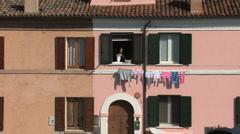 Italy Po delta Comacchio laundry Stock Footage