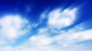 Timelapse Heavenly Sky Clouds 21 Loop HD720 Stock Footage