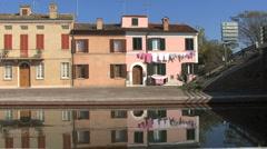 Italy Po delta Comacchio house and laundry Stock Footage