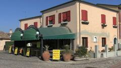 Comacchio cafe in the Po Delta region of Italy Stock Footage