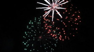 Stock Video Footage of firework display
