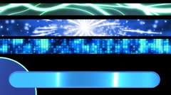 Three Blue one Green Looping Lower Thirds Stock Footage