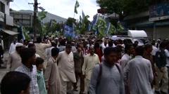 Islamic Party holds Protest Rally in Abbottabad, Pakistan Stock Footage