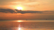 Stock Video Footage of sunset and sea