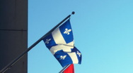 Stock Video Footage of Quebec Flag Pole