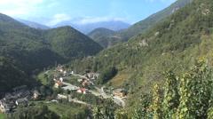 Italy village in valley Piedmont 5 Stock Footage
