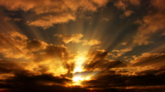 Timelapse Heavenly Sunset 08 Loop WEB - stock footage