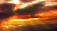 Timelapse Heavenly Sunset 12 Loop WEB Stock Footage