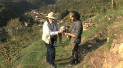 Italy Piedmont vineyard 33 Stock Footage