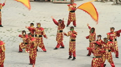 Dancers at the Jiayuguan Great Wall Fort - 1 Stock Footage