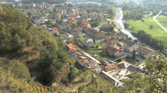 Italy Piedmont valley town 3 Stock Footage