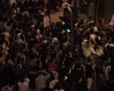 Huge Crowds Demonstrate 03 - 1 July Protest Hong Kong, China GFSD Stock Footage