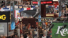 Crowds at  NRA convention(HD)c - stock footage