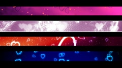 Looping Love and Hearts Lower Thirds Stock Footage