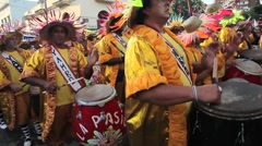 Carnaval Candombe Comparsa Stock Footage