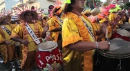 Stock Video Footage of Carnaval Candombe Comparsa