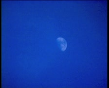 Winter. Full moon Stock Footage
