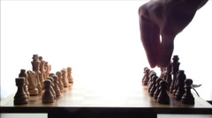 Chess Boardgame Pawn First move Stock Footage