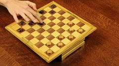 Game of Checkers Time Lapse Stock Footage