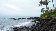 Stock Video Footage of Hawaii Beach Coastal Rocks