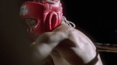 Two boxers fighting in a ring. Stock Footage