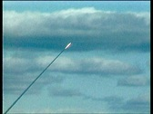 Stock Video Footage of Anti-aircraft C-300 missiles in the sky between the clouds